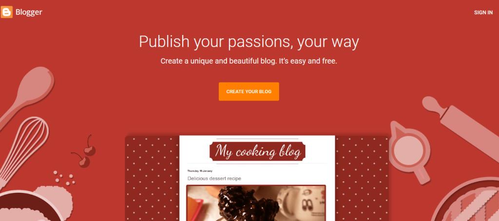 create a website on blogger