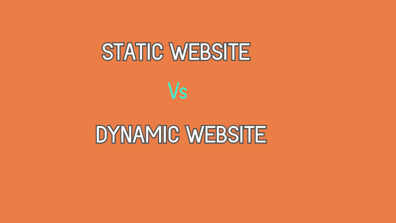 static website and dynamic website