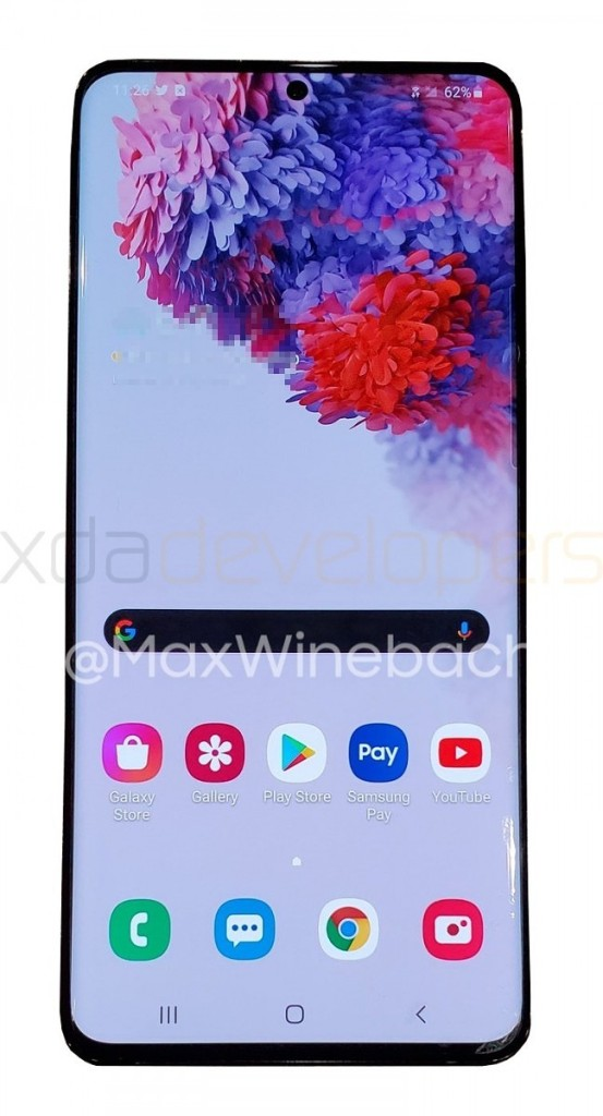 Samsung galaxy s20+ leaked image